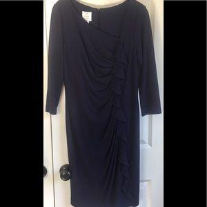 Dark Plum Sexy Ruffled Front Dress